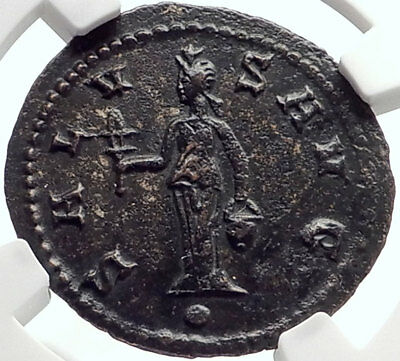 Claudius II Gothicus Authentic Ancient Antioch Roman Coin ISIS Faria NGC i70172