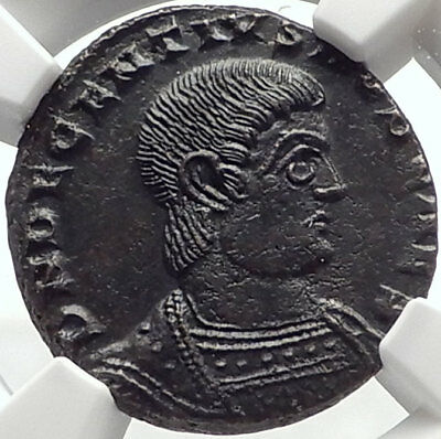 DECENTIUS as Caesar 351AD Authentic Ancient Genuine Roman Coin NGC MS i70173