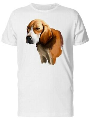 Cute Watercolor Beagle Dog Men's Tee -Image by Shutterstock