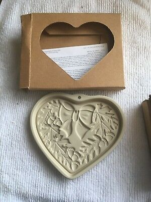 The Pampered Chef cookie mold-2003 ltd edition-Seasons of Heart series(4 molds)
