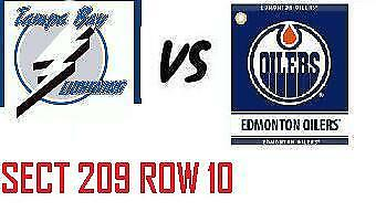 1-2 Tiks Edmonton Oilers Vs Tampa Bay Lightning Dec 22 Rogers Place Sect 209 R10