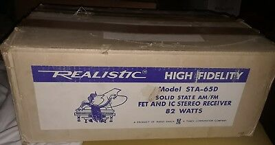 NOS - Realistic STA-65D Stereo Receiver Solid State w/manual & original box