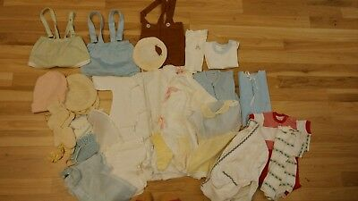 vintage baby clothing lot 40s 50s 60s overalls jumpers jackets sets nightgowns
