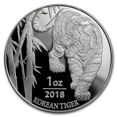2018 South Korea 1 oz Silver Tiger BU
