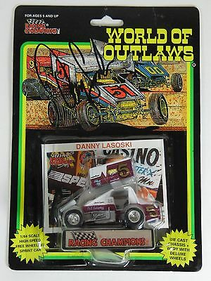 1993 Danny Lasoski Autographed Signed 1:64 World Of Outlaws Racing Sprint Car