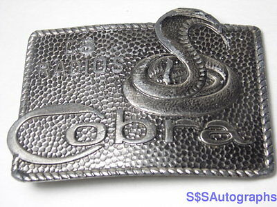 Vintage 1970s 1980s COBRA SNAKE CB RADIOS Advertising Belt Buckle LEWIS BUCKELS