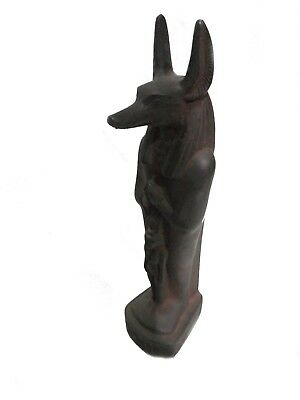 ANCIENT EGYPTIAN STATUE ANUBIS God Afterlife Small Figurine and Isis 3120-2890