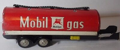 Vintage 1950 JAPAN LINEMAR TIN TOY MOBIL GAS OIL ADVERTISING TANKER PEGASUS LOGO