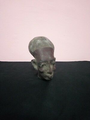 Ancient Egyptian Statue Queen Meritaten Head Akhenaten 1365-1320 Bc