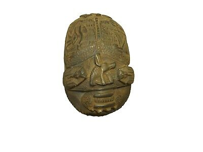 ANCIENT EGYPTIAN ANTIQUE STATUE Beetle Figure Scarab and Anubis 1445-1211 Bc