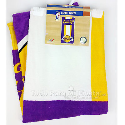 Los Angeles Lakers Beach Towel NBA Basketball Pool FULLY LICENSED 28x58