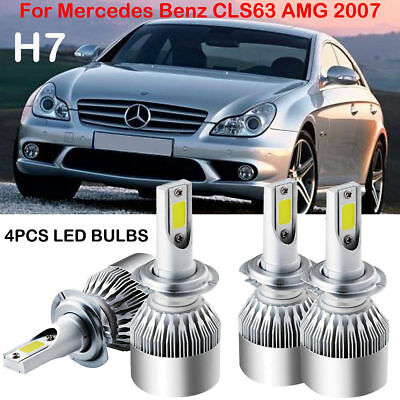 4X H7 LED Headlight Kit Bulbs Hi/Lo For Mercedes Benz CLS63 AMG 2007 Replace HID