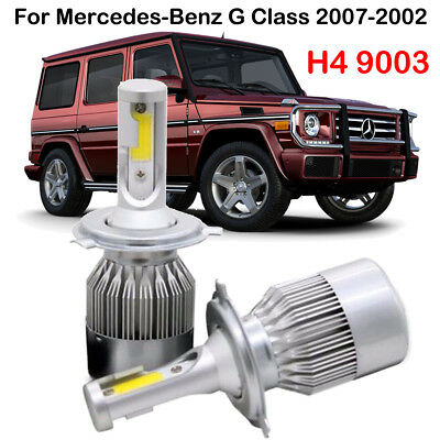 H4 9003 LED Headlight Kit Bulbs For Mercedes-Benz G Class 2007-2002 Replace HID