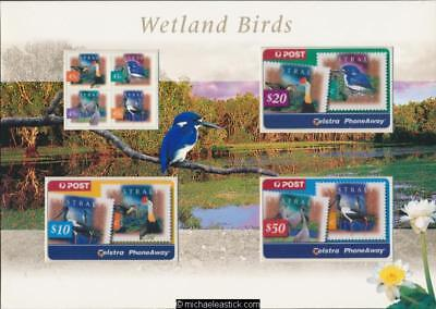 Australia 1998 Wetland Birds $80 Phonecard & Stamp Telstra Pack