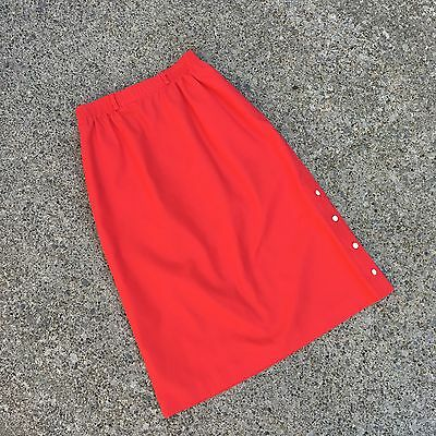Vintage Skirt Red Buttons Retro JG By Joyce Spring Summer