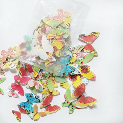 42pcs/lot Mixed Butterfly Edible Glutinous Wafer Rice Paper Cake Cupcake Toppers