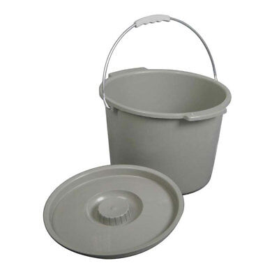MEDLINE 1 EA Commode Bucket With Lid & Handle MDS80306B CHOP