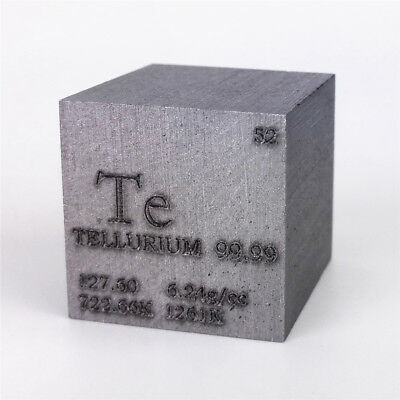 1 inch 25.4mm Ultrapure Carbon Cube 30grams 99.9999/% Engraved Periodic Table