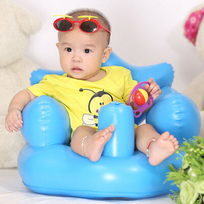 Baby Inflatable Sofa Toddlers Sit Me Up Stool Training Seat Dining Bath Chair US