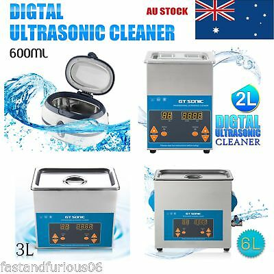 600ML/2L/3L/6L Digital Ultrasonic Cleaner Ultra Sonic Wave Clean Machine 3A New