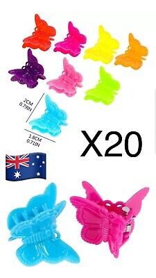 20x Butterfly's Fashion Mixed colors Plastic Hair Clip Baby Girls Clamp Claw