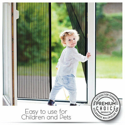 Instant Mesh Screen Net Door Magnetic Hands-Free Anti Mosquito Fly Curtain aq1