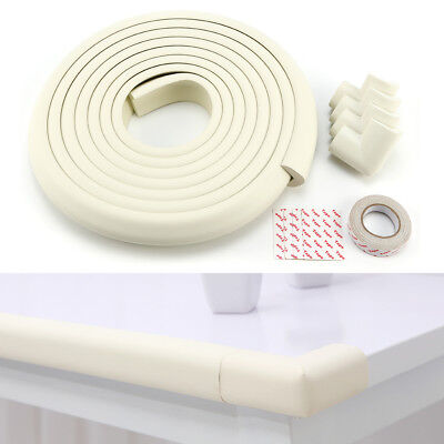 5M Baby Toddler Safety Proofing Table Edge Guard w/ 4 Corners Protector White