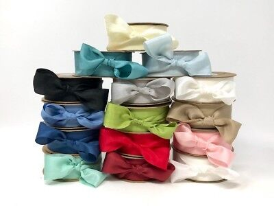 Bertie's Bows 100% Pure Silk 25mm Ribbon - sold by the metre or by the 30m Roll