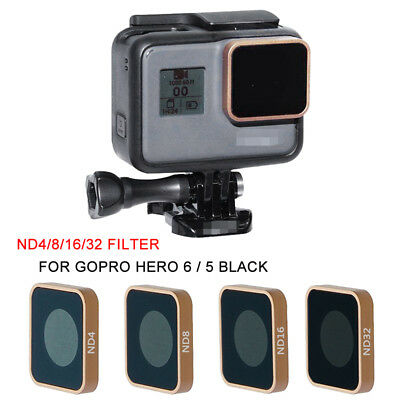 For Gopro Hero 5 6 Black Camera ND4 ND8 ND16 ND32 Lens Filter Kit Replacement