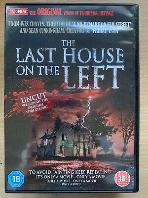 DAVID Hess LAST HOUSE ON THE Left ~ 1972 WES CRAVEN Horror sin cortar GB DVD