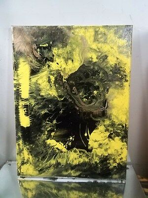 ART CANVAS Authentic Painting  BY MUSK YAI ABSTRACT EXPRESSIONIST SIGNED 2014~