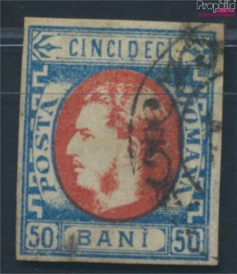 Romania 25 fine used / cancelled 1869 Postage stamp - Prince Karl I. (8688227