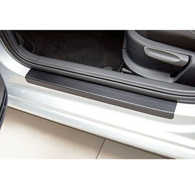 4x Car Accessories Door Sill Scuff Welcome Pedal Protect Carbon Fiber Stickers.