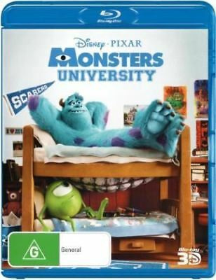 Disney Pixar Monsters University 1-Disc 3D Bluray Region Free ABC New