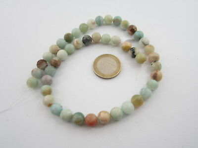 1 filo di amazonite cabochon  naturale in tutte le sue sfumature  mm. 8