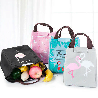Lunch Bag Thermal Food Picnic Lunch Bags for Women Kids Flamingo Waterproof D