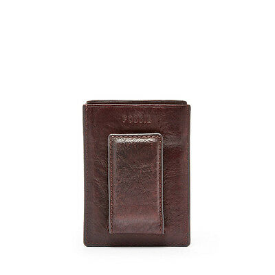 ML3711001 Leather Black Fossil Anderson Magnetic Card Case