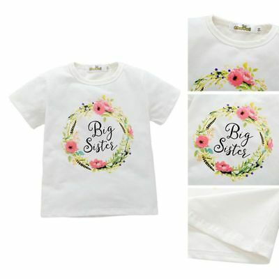 Child Baby Kids Girl Sister Romper Bodysuit Jumpsuit Toddler Printed Outfit Tops