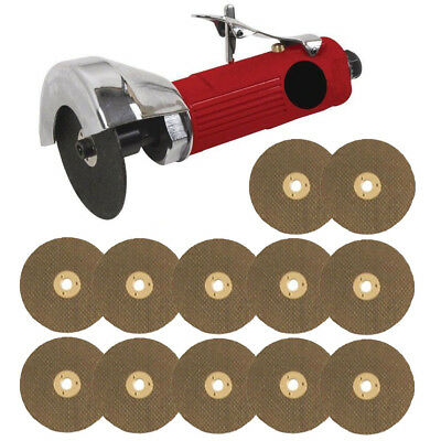 "Voche Red 3"" Air Cut Off Tool Grinder Cutter Tools + 12 Cutting Discs"