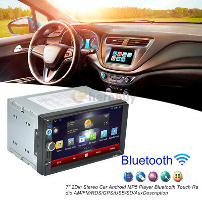 """7"""" Android 5.1 Double 2Din HD Car Stereo GPS Navi MP5 MP3 Player Bluetooth Radio"""
