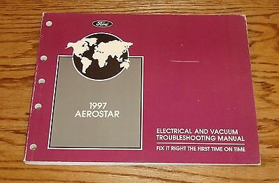 1997 ford aerostar electrical & vacuum troubleshooting manual wiring  diagram 97