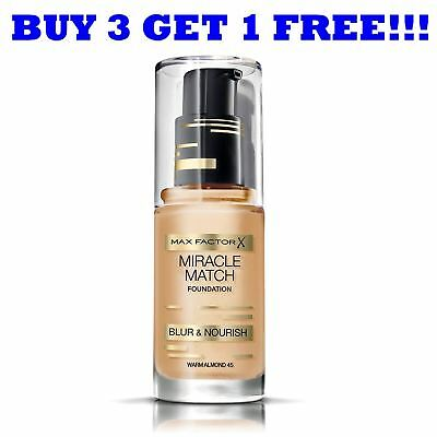 Max Factor Foundation Miracle Match 30ml Warm Almond 45