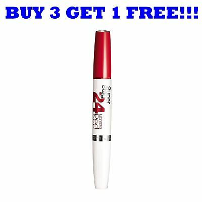 Maybelline Lipgloss Superstay 24H Ultimate Red Ruby Rush 565