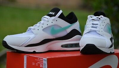 99aab3d5c0 NIKE AIR MAX 93 OG White/Turquoise DUSTY CACTUS Men Size 10 #(306551 ...