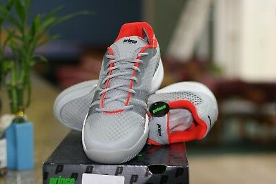 Prince Racquetball Shoes T22 Lite Grey /red/ White Mens Size 12 Low