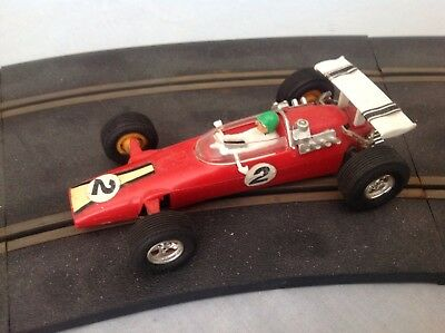 SCALEXTRIC Tri-ang Vintage 1968-1971 C6 PANTHER GP #2 RED (BLACK POWERSLEDGE)
