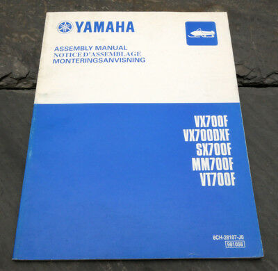 2001 YAMAHA VX700F VX700DXF SX700F MM700F VT700F Snowmobile Assembly Manual