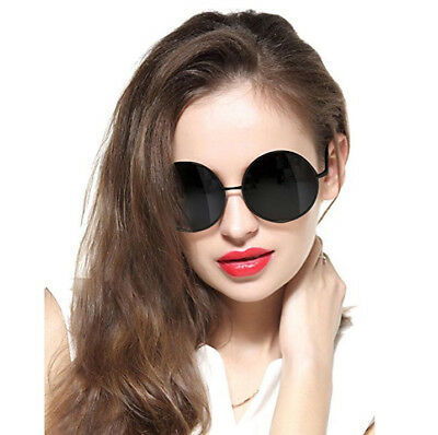 Oversized Round Circle Mirrored Hippie Hipster Sunglasses - Metal Frame