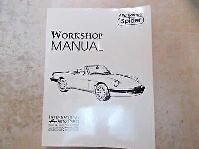 WORKSHOP MANUAL ALFA Romeo Giulia Autobook - Alfa romeo spider workshop manual