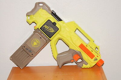 Nerf N-Strike Rayven Green with Firefly 18 round ammo clip
